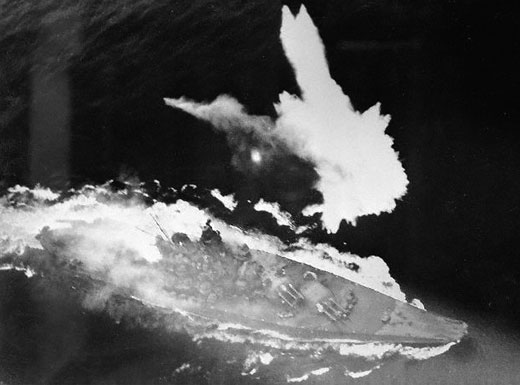 Sinking of the great battleship Yamato